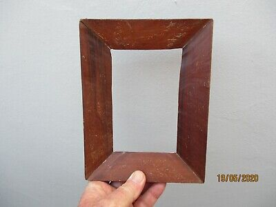 A Small Antique Hand Made Mahogany Picture Frame c1880
