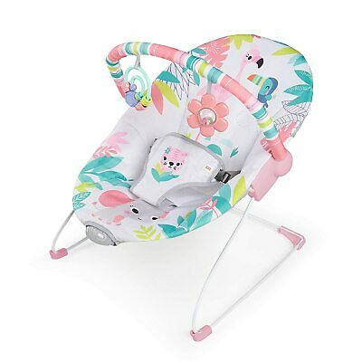 Bright Starts Flamingo Vibes - Vibrating Bouncer with Toy bar