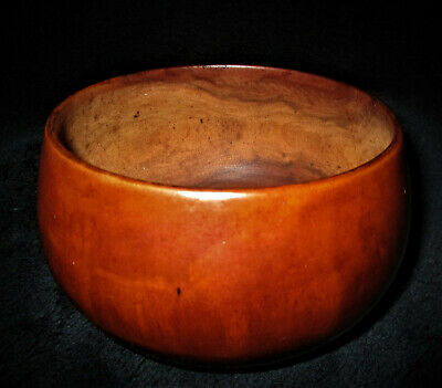 "Hawaii  VINTAGE HAWAIIAN KOU WOOD BOWL 5"" Diam x 3"" T"