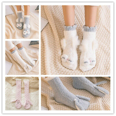 Women Ladies Girls Winter Cute Warm Soft Fluffy Socks Cosy Lounge Bed Socks
