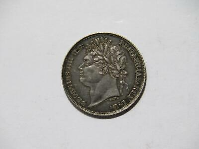 Great Britain 1825 6 Pence King George Iv Low Grade Silver World Coin 🌈⭐🌈