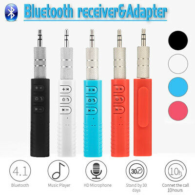 3.5mm Wireless Bluetooth Receiver AUX Audio Stereo Music Hands Free Car Adapter