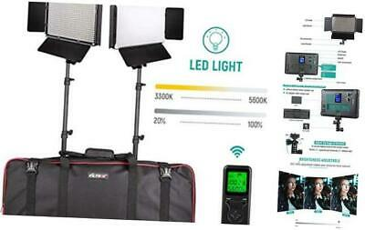 Photography Photo Video Studio Lighting, LED Video Light Panel with Stand