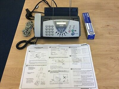Brother FAX-T104 Thermal Fax Machine/Telephone/Copier & Spare Ribbon