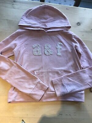 A&F Abercrombie Girls Pink Hoody Size Medium 8-10 Yrs