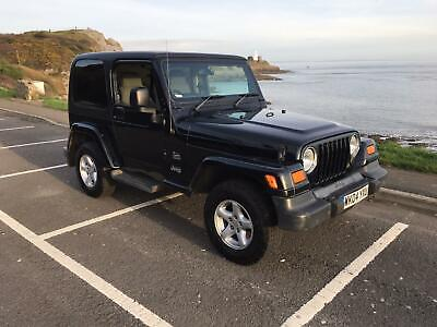 Jeep Wrangler 4.0 Sahara Manual 2004 A/C Hardtop 110K Miles Black Lovely