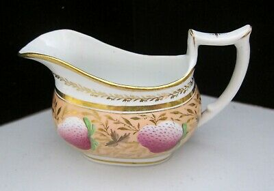 English porcelain pattern 112  with strawberries Creamer