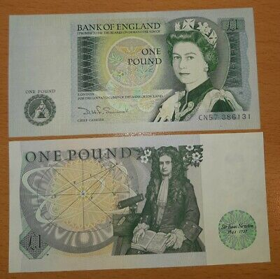 20 Bank of England, one pound notes, Uncirculated crisp, consecutive numbers,vgc
