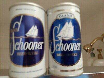 Lot of Two Different Schooner Pull Tab Beer Cans