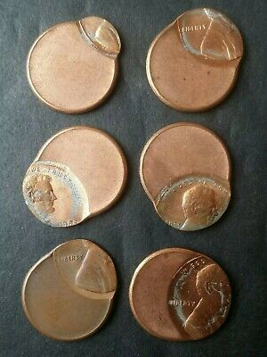 Lot of Six 1c Lincoln Memorial Cents, Off-Center Errors