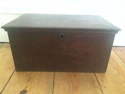Antique Worn Wooden Small Storage Box with Lid (2)