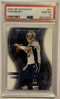 Tom Brady 2004 Sp Authentic #51 Psa 10 Gem Mint New England Patriots Bucs