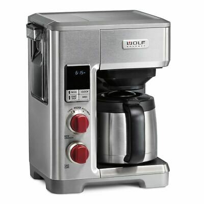 Wolf Gourmet Wgcm100S, Programmable Coffee System, Red Knobs