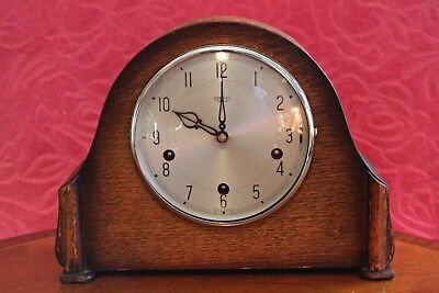 Vintage English 'Smiths Enfield' 8-Day Mantel Clock with Westminster Chimes