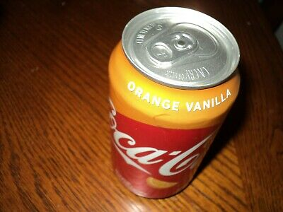 "New Coke Orange Vanilla Can ***Error Can Not Filled*** ""Sealed"""