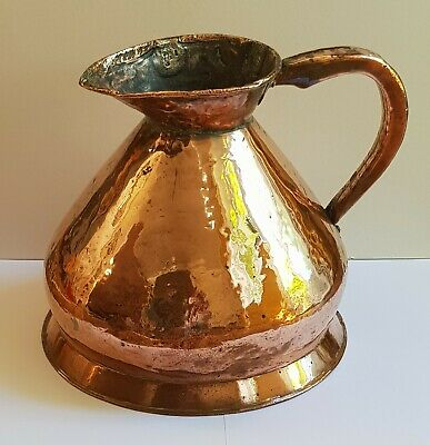 ANTIQUE 2 GALLON COPPER HAYSTACK JUG - 19th CENTURY - FULLY MARKED - 31cm TALL