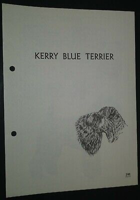Kerry Blue Terrier RAS Kennel Control Breed Standards M Davidson Ill