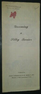 Vintage Grooming a Silky Terrier Illustrated Pamphlet