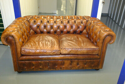 Two Seat Leather Chesterfield Couch Made By Leather Chairs Of Bath