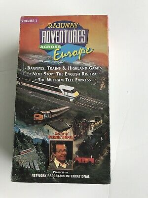 Travel  RAILWAY ADVENTURES ACROSS EUROPE VHS Set Vol 1 & 2 New (Factory SEALED)