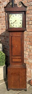 Small Antique Oak Mahogany 30 Hour Longcase Grandfather Clock Kalabergo Banbury