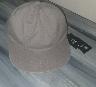 Brixton Worn Wash Grey Baseball Cap Hat
