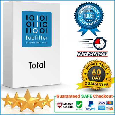 FabFilter Total Bundle v2019 all Plugins VST/VST3✅WIN & MAC✅INSTANT DELIVERY✅