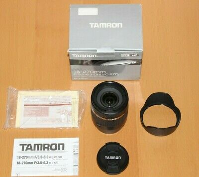 Tamron SP 18-270mm F/3.5-6.3 II IF VC Di II Lens For Canon - Mint condition.