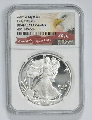 2019-W Proof American Silver Eagle - NGC PF69 ER *733