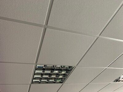 Suspended ceiling Tiles and lights shop office space