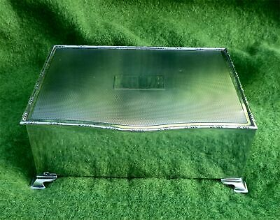 PARTICULARLY NICE WOOD LINED SOLID SILVER CIGARETTE BOX - B'HAM 1947 - 23.80 ozt