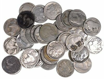 40 - Dated 1920's and 1930's Buffalo Indian Nickels - Roll Lot Collection *914