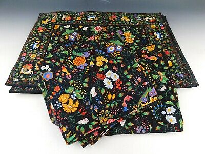 Vera Bradley Tavern On The Green Quilted Floral Placemats and Napkins Set 13pc