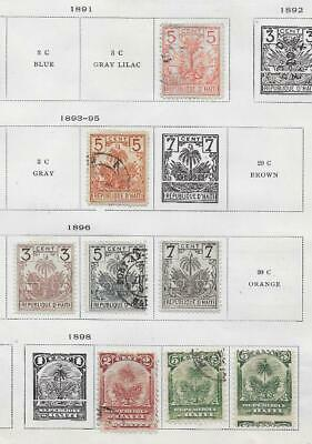 9 Haiti Stamps from Quality Old Album 1891-1898