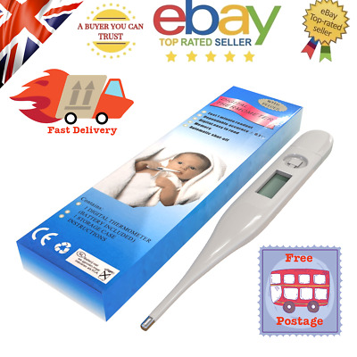 Digital LCD Body Temperature Thermometer for Adults Children Mouth & Arm Pit