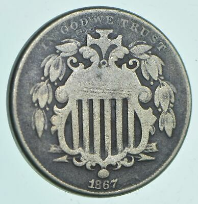 1867 Shield Nickel - Charles Coin Collection *597