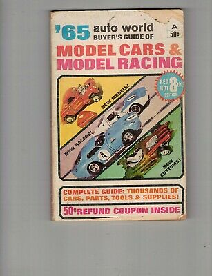 Auto world buyers guide model cars & model racing catalog 1965