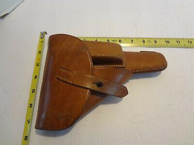 Very Nice Black Flap Type Leather Holster with Magazine Compartment
