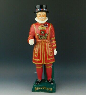 Vintage Staffordshire Beefeater Yeoman Porcelain Dry Gin Ceramic Decanter