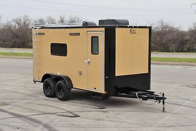 """OFF ROAD 7 X 16 Enclosed Toy Hauler Camper Cargo Trailer w/ Electrical 32"""" Tires"""