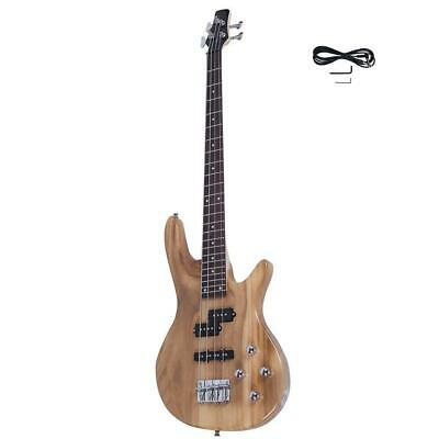 New Natural Wood 4 Strings Electric IB Bass Guitar