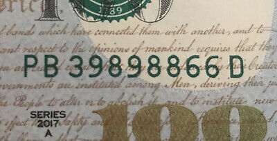 Fancy Serial Number One Triple Two Pairs Liars Poker Rare Au 39898866 Lucky!