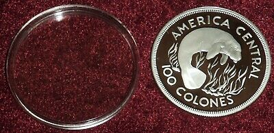 1974 COSTA RICA GEM FROSTY PROOF SILVER MANATEE 100 COLONES, 31 Gms. FREE S/H