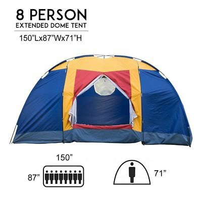 KAMARS 6-8 Person Family Large Tent Outdoor Traveling Camping Hiking Shelter Bag