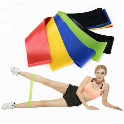 Resistance Bands Exercise Sports Loop Set Fitness Gym Yoga Latex Set or Singles