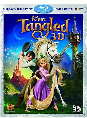 Tangled [Blu-ray 3D + Blu-ray + DVD + Digital Copy] (Bilingual)