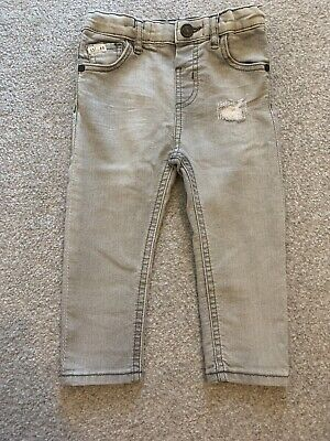 Boys River Island Grey Jeans. Size 18-24 Months
