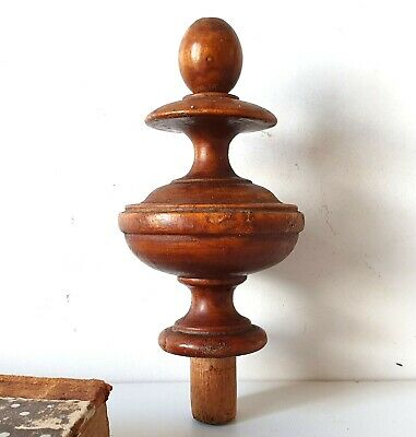 Antique salvaged wood finial Furniture restoration Wood project Cabinetry 3.85