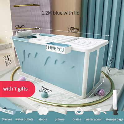 Adult Bathtub Portable with Adult Shower Seat Collapsible Bathtub Baby Swimming