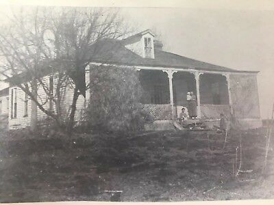 RPPC House Family on Porch Postcard Real Photo Baby Children